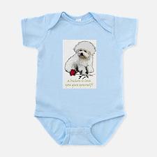 Bichon Frise Valentine Rose Infant Bodysuit