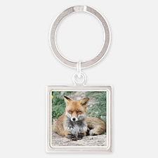 Fox002 Square Keychain