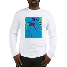 Cat Blue Long Sleeve T-Shirt