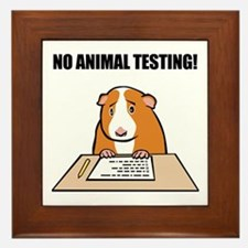 No Animal Testing! Framed Tile