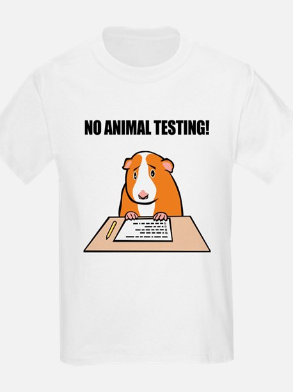 No Animal Testing! Kids T-Shirt
