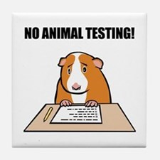 No Animal Testing! Tile Coaster