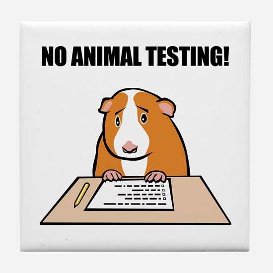 No Animal Testing! Tile Coaster