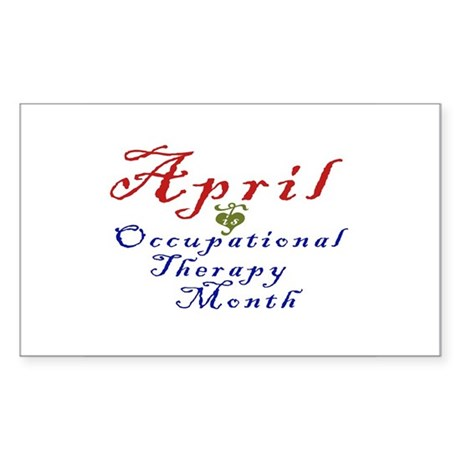 Occupational Therapy Month Rectangle Sticker