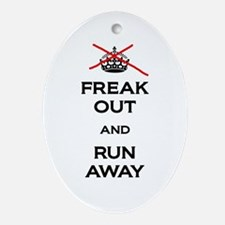 Freak Out Run Away Ornament (Oval)