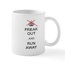 Freak Out Run Away Mugs