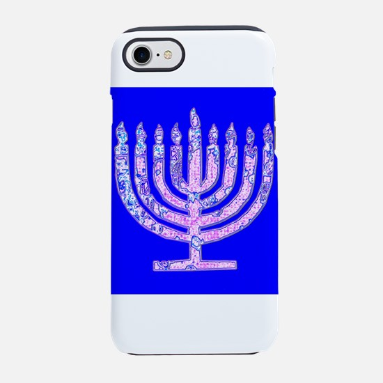 Menorah Hanukkah Lemuel's iPhone 7 Tough Case