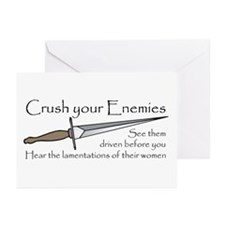 Crush Your Enemies Greeting Cards (Pk of 10)