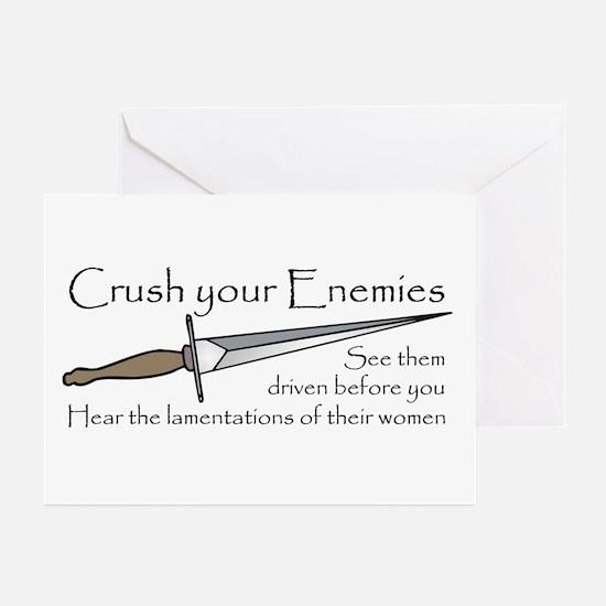 Crush Your Enemies Greeting Cards (Pk of 10)