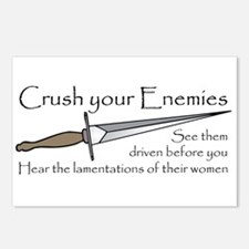 Crush Your Enemies Postcards (Package of 8)