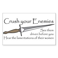Crush Your Enemies Rectangle Bumper Stickers