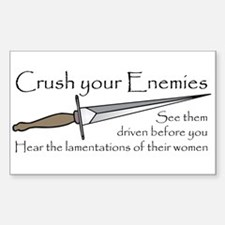 Crush Your Enemies Rectangle Decal