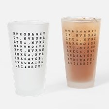 Never Give You Up Drinking Glass