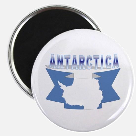 """Antarctic flag ribbon 2.25"""" Magnet (10 pack)"""