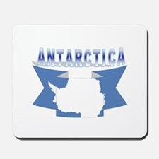Antarctic flag ribbon Mousepad