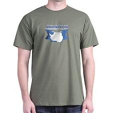 Antarctic flag ribbon T-Shirt