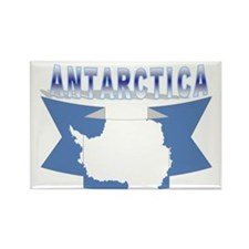 Antarctic flag ribbon Rectangle Magnet