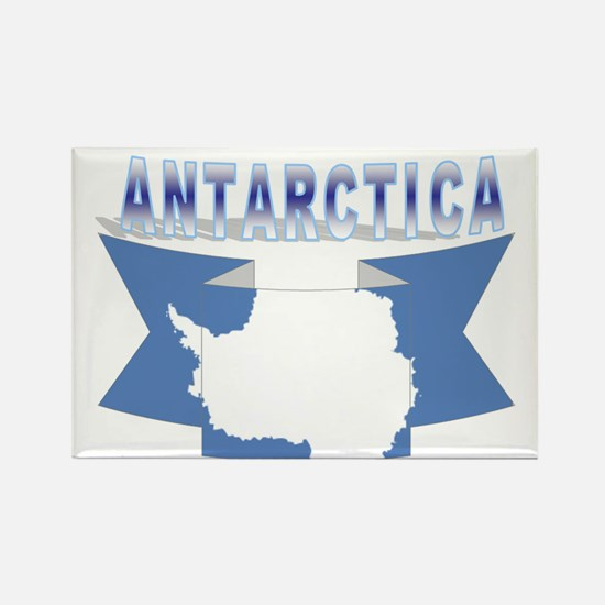 Antarctic flag ribbon Rectangle Magnet