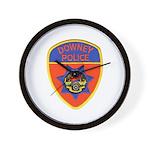 Downey Police Wall Clock