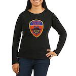 Downey Police Women's Long Sleeve Dark T-Shirt