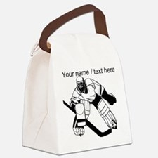 Custom Hockey Goalie Canvas Lunch Bag