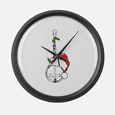 BanjoSanta.png Large Wall Clock
