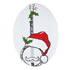 BanjoSanta.png Ornament (Oval)