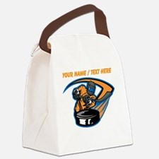 Custom Slap Shot Canvas Lunch Bag