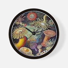 Vintage Sea Anemones Wall Clock