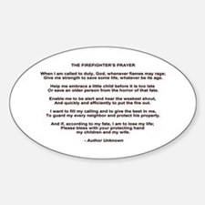 Firefighters Prayer Decal