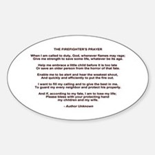 Firefighters Prayer Sticker (Oval)