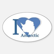 I love antarctic Oval Decal