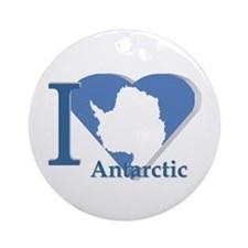 I love antarctic Ornament (Round)