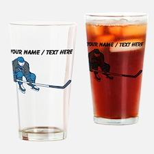 Custom Hockey Player Drinking Glass
