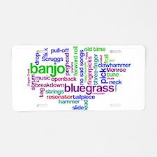 banjo wordle.PNG Aluminum License Plate