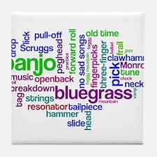banjo wordle.PNG Tile Coaster