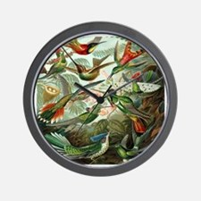 Vintage Hummingbirds Wall Clock