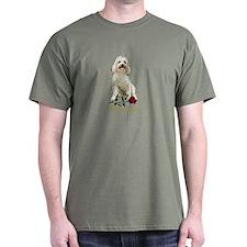 Havanese Valentine Rose Ivory T-Shirt