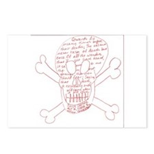 Julius Caesar Skull Red Postcards (Package of 8)