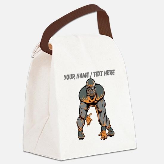 Custom Football Lineman Canvas Lunch Bag