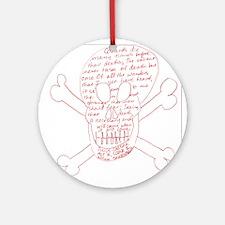 Julius Caesar Skull Red Ornament (Round)
