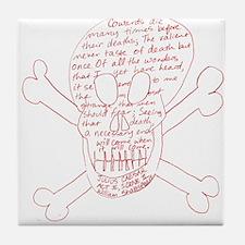 Julius Caesar Skull Red Tile Coaster