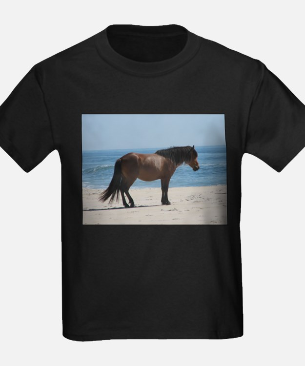 Wild Pony on Beach T-Shirt