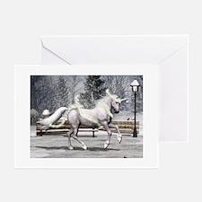Holiday Unicorn II Greeting Cards