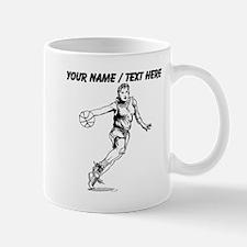Custom Female Basketball Player Mugs