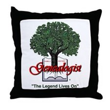 The Legend Lives On Throw Pillow