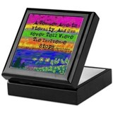 Teacher retirement Square Keepsake Boxes