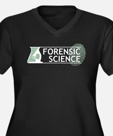 Forensic Science Women's Plus Size V-Neck Dark T-S