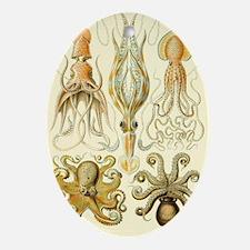 Vintage Octopus, Octopi Oval Ornament