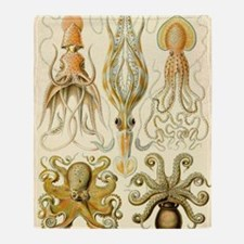 Vintage Octopus, Octopi Throw Blanket